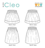 Cleo Skirt Paper Pattern - Beginner - XS, S, M, L, XL, Plus Sizes 1-3 - Made by Rae