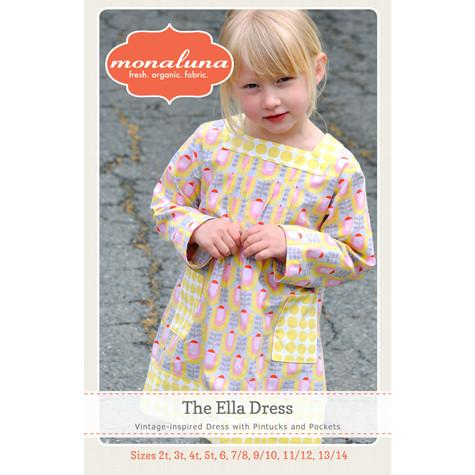 Girl's Ella Dress Paper Pattern - Intermediate - 2T - 13/14 - Monaluna