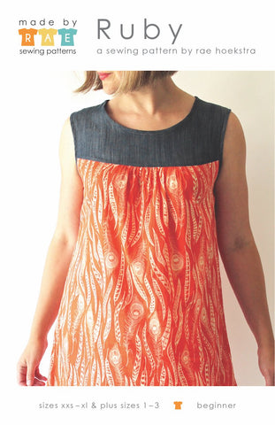 Ruby Dress & Top Paper Pattern - Beginner - XS, S, M, L, XL, Plus Sizes 1-3 - Made by Rae