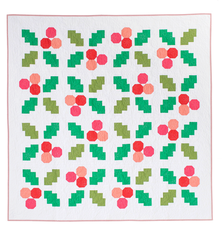 Holly Jolly Quilt Pattern Confident Beginner/Intermediate Level - Then Came June - Quilt Paper Pattern