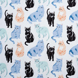 Miau Poplin - Kitty Garden - Birch Fabrics - Organic Cotton - Poplin