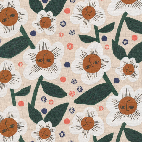 Rise and Shine - Plant Peeps - Cloud9 Fabrics - Organic Cotton - Cotton Linen