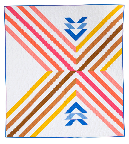 Stripe Crossing Quilt Pattern Confident Beginner/Intermediate Level - Then Came June - Quilt Paper Pattern