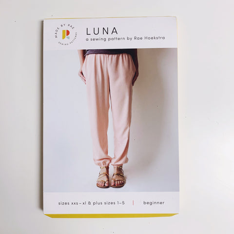 Luna Pants Paper Pattern - Beginner - XXS, XS, S, M, L, XL, Plus Sizes 1-5 - Made by Rae