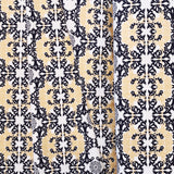 Horned Lace Canvas - Mod Nouveau - Birch Fabrics - Organic Cotton - Canvas