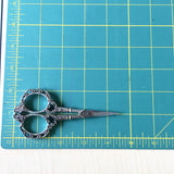 Antiqued Embroidery Scissors  - 4.5 Inches - Vintage Style - Silver Colored