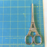 Eiffel Tower Embroidery Scissors - Gold Colored - 5.6 Inches - Vintage Style