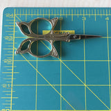 Antique Style Butterfly Embroidery Scissors - Stainless Steel - 3.7 Inches - Vintage Style Gold