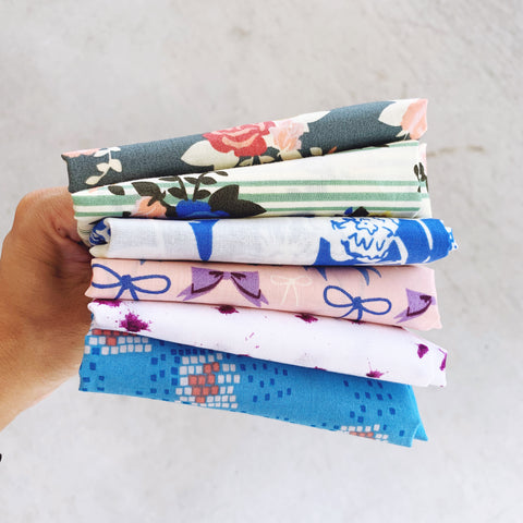 Pirouette Curated Collection 3 - 6pc Set - Organic Fabrics - Fat Quarter Custom Bundle