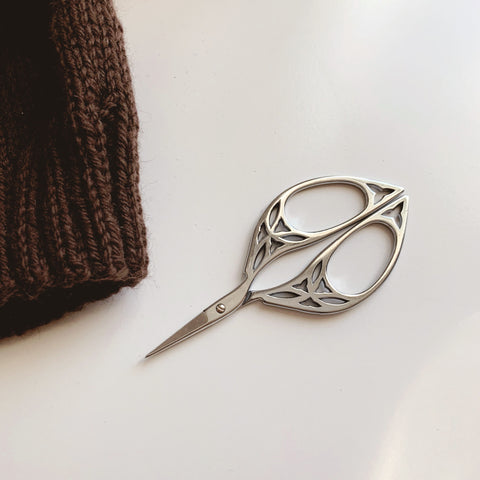 Antiqued Embroidery Scissors - Silver Colored - 4.5 Inches - Vintage Style