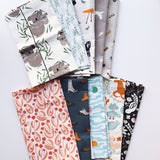 Ashen Morning 3 Fat Quarter Bundle - Organic Poplin - Quilt Kit - Quilting Cotton 10pc set