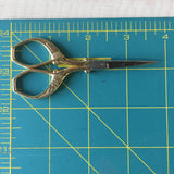 Antique Style Embroidery Scissors - Stainless Steel - 3.7 Inches - Vintage Style Gold