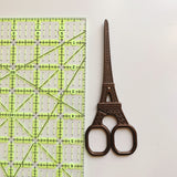 Eiffel Tower Embroidery Scissors - Chocolate Brown Colored - 5.6 Inches - Vintage Style