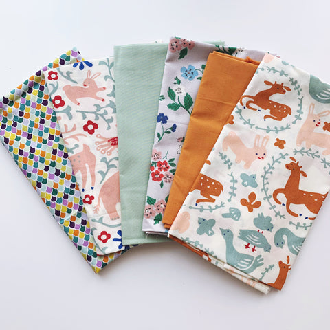 Animal Kingdom - 6pc Set - Organic Fabrics - Fat Quarter Custom Bundle