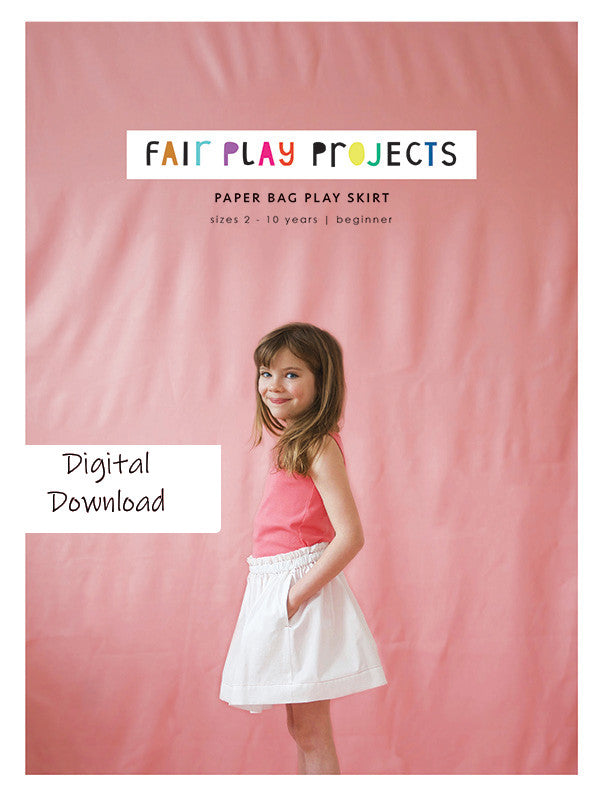 Paper Bag Play Skirt - Beginner Level - Fair Play Projects - Digital (PDF) Pattern