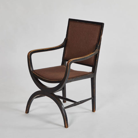 UPHOLSTERED ARM CHAIR - England, 1860