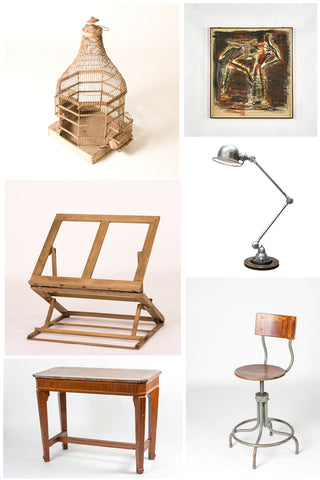 Build Your Own Artistu0027s Studio, By Layering Antique Furniture And  Accessories With Industrial Elements.