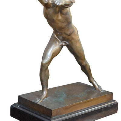 Lee Stanton Antiques Bronze Borghese Gladiator