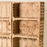 CRATES AS BOOKCASE