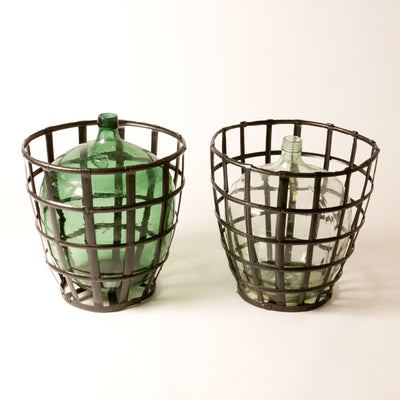 BOTTLES IN BASKETS