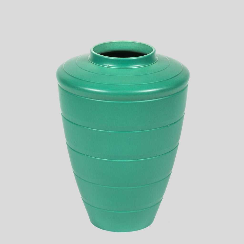ART DECO VASE GREEN