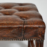 LEATHER TUFTED STOOL