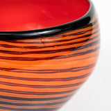 RED STUDIO GLASS BOWL