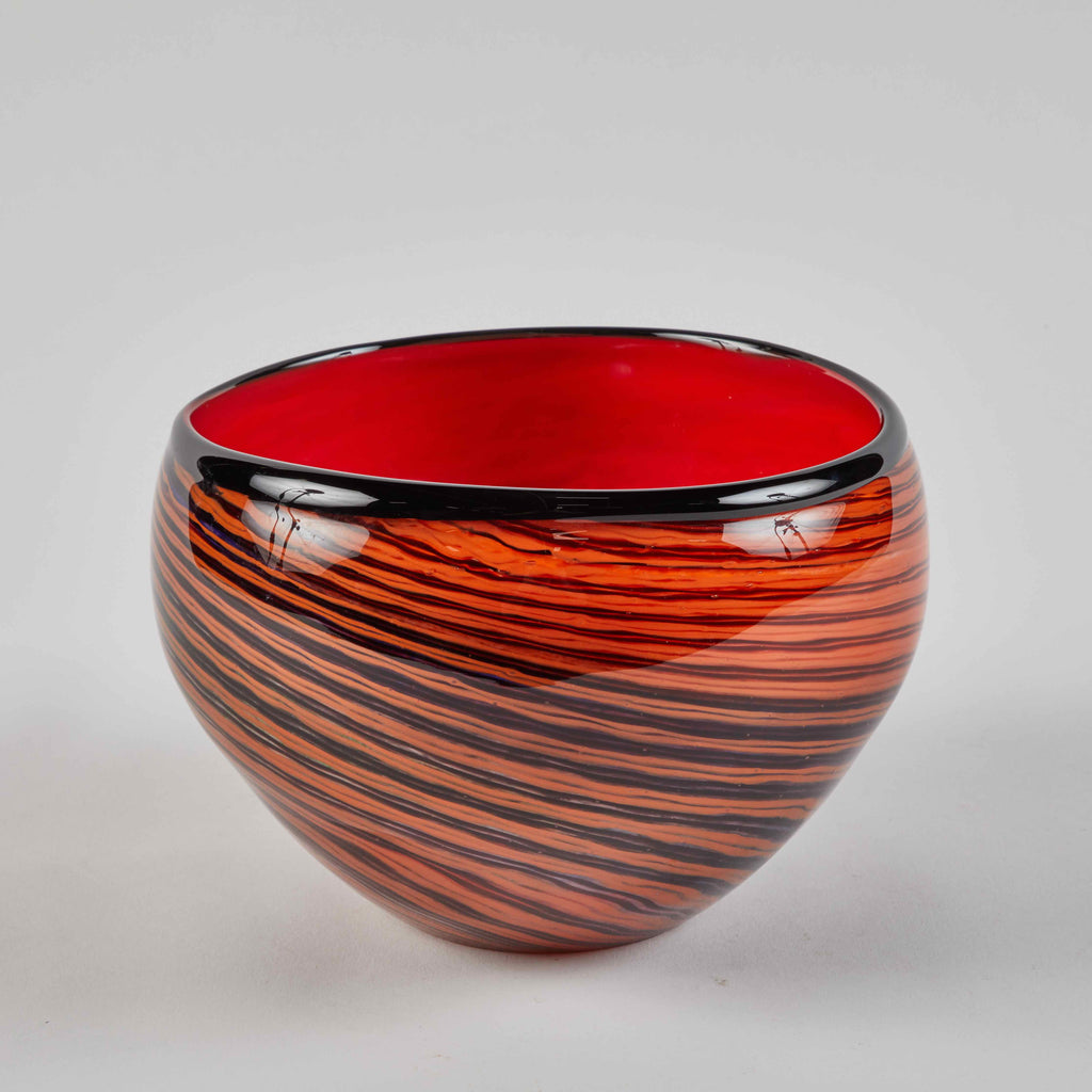 Lee Stanton Antiques Red Studio Glass Bowl