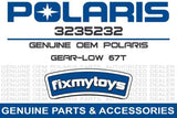 67T Low Gear for Transmission, Polaris OEM 3235232