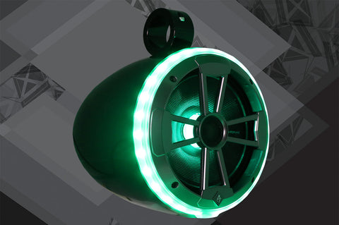 "8"" Tower Speaker Pair with 8EVO Pro RGB LED Speakers with Light Rings"