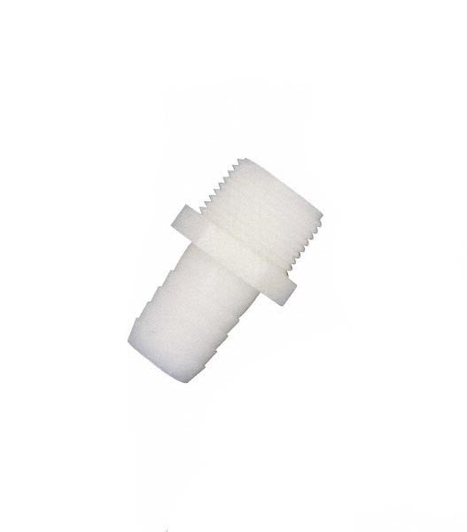 "A 3812 - Adapter: Male Taper Pipe 3x8"" MPT x 1/2"" Hose Barb"