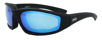 Kickback Black Frame, Blue GT Lenses, Foam Padded