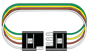"4 Way 12"" Loop Molded Curcuit Connector PKG - Spectro"