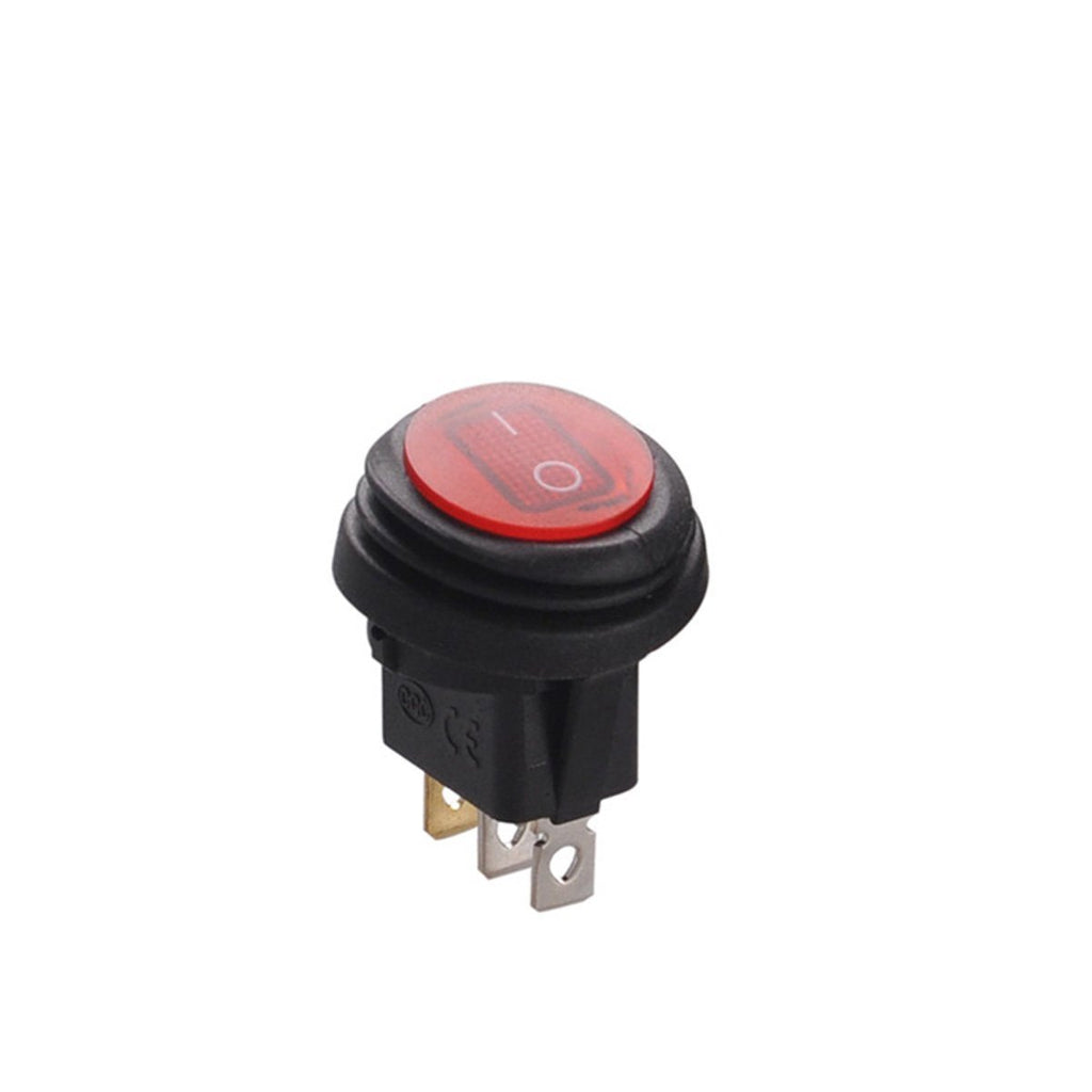 Round On/Off Waterproof Rocker Switch with LED Indicator