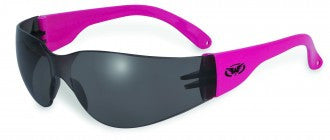 Rider Neon Pink Smoke Lenses Safety Glasses