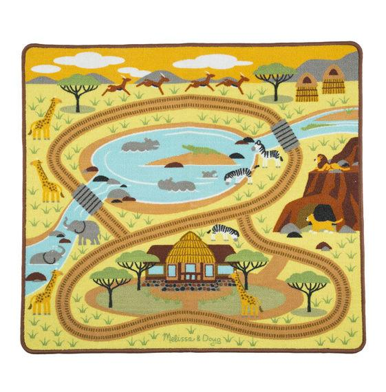 ALFOMBRA DE ACTIVIDAD LA SABANA SAFARI  -  MELISSA & DOUG  -  THE SAVANNA SAFARI ACTIVITY RUG