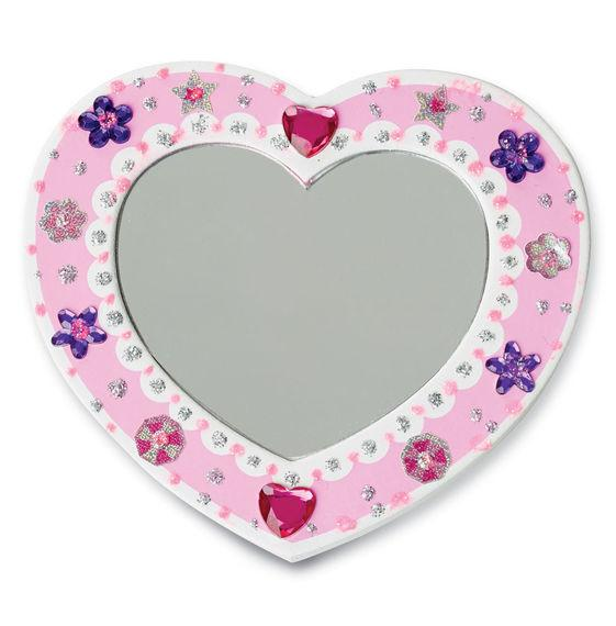 Decora tu propio espejo de corazón - Melissa & Doug - Decorate your own mirror heart