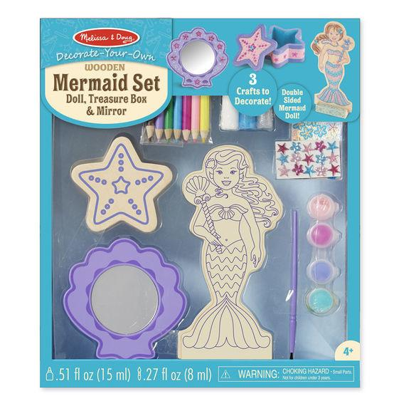 Set para decorar una sirena - Melissa & Doug - Mermaid set