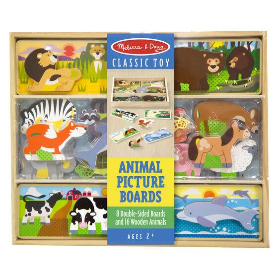 TABLEROS DE IMAGENES DE ANIMALES - MELISSA & DOUG - ANIMAL PICTURE BOARDS