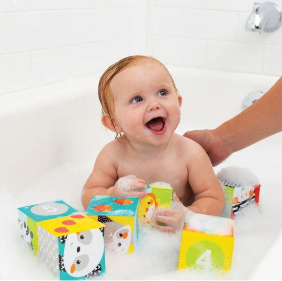 BLOQUES DE BAÑO COLORES & NUMEROS - INFANTINO - COLORS & NUMBERS BATH BLOCKS