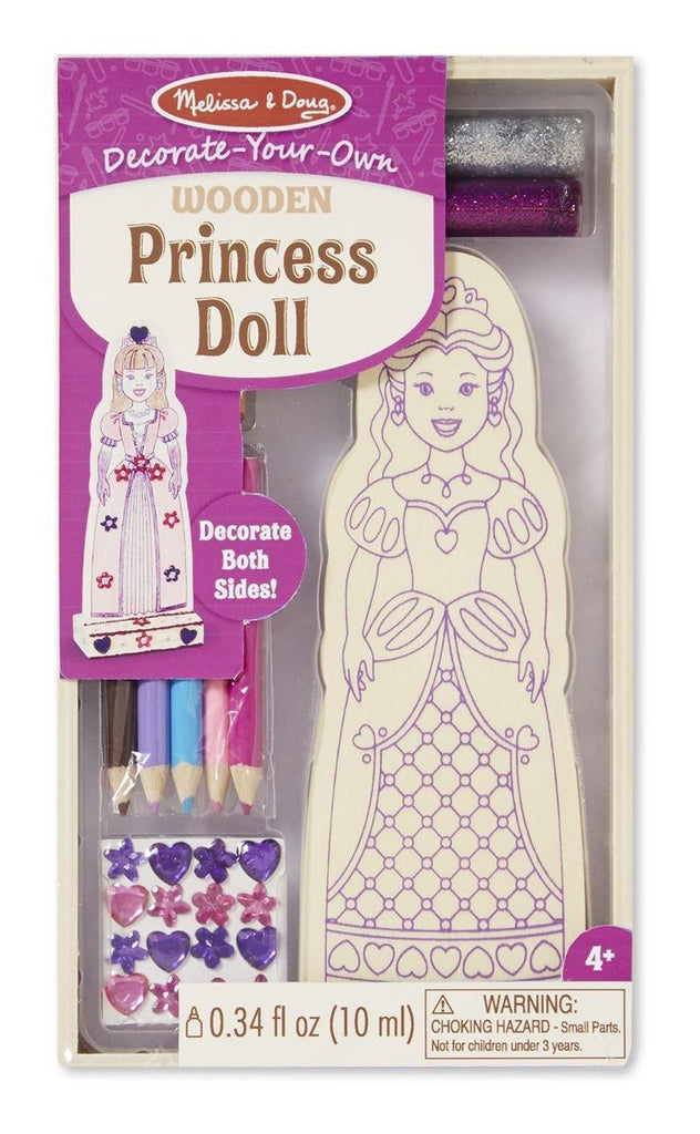 Aprendo a colorear una princesa - Melissa & Doug -Princess Doll