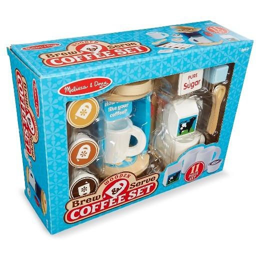 Brew & Serve Coffee Set  - MELISSA AND DOUG - SERVICIO DE MADERA PARA PREPARAR CAFE