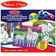 Animals  - MELISSA AND DOUG - BLOC PARA COLOREAR