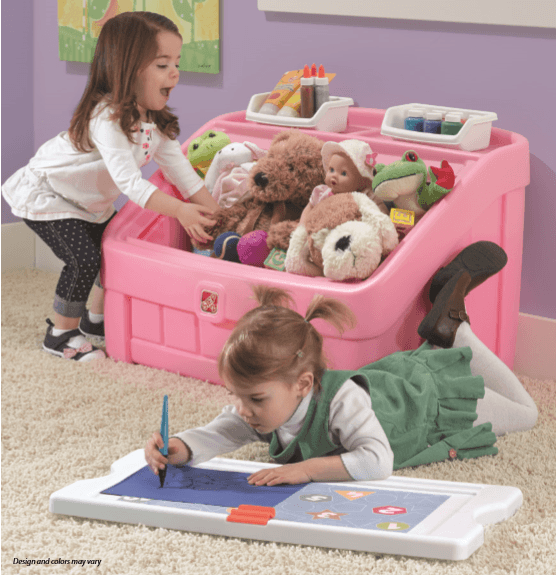 2 N 1 TOY BOX AND ART LID (PINK)