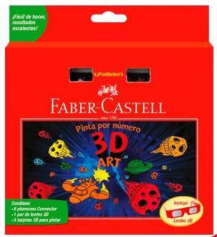 PINTA POR NUMERO 3D - FABER CASTELL - COLOR BY NUMBER 3D ART