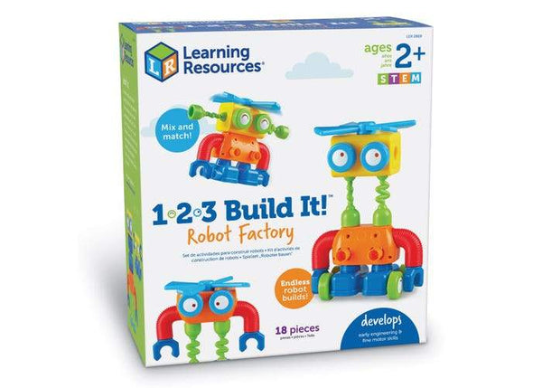 1, 2, 3 ¡CONSTRUYELO! FABRICA DE ROBOTS - 1, 2, 3 BUILD IT! ROBOT FACTORY