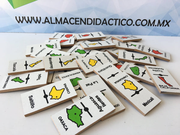 DOMINO DE MADERA REPUBLICA MEXICANA