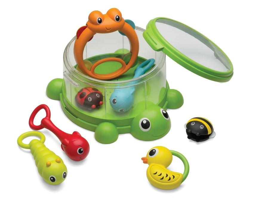 ESTUCHE DE PERCUSIONES DE TORTUGA - INFANTINO - TURTLE COVER BAND 8 PIEZAS PERCUSSION SET