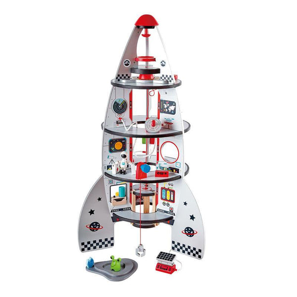 FOUR-STAGE ROCKET SHIP - HAPE  -  COHETE ESPACIAL DE CUATRO PISOS
