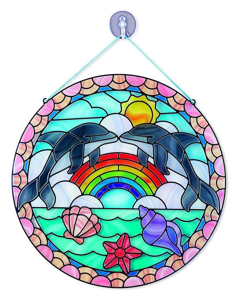 Vitral Delfín - Melissa & Doug - Stained Glass Made Easy Dolphin